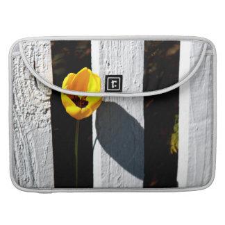Fenced Tulip Sleeve For MacBooks