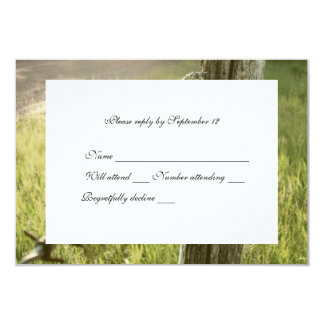 Fencepost, Barbed Wire Rustic rsvp with envelope Card