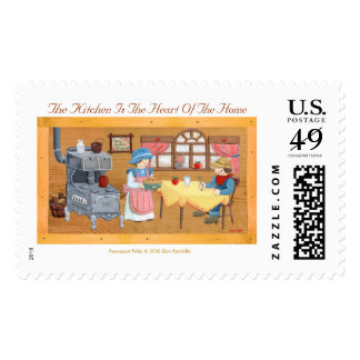 """Fencepost Folks """"Kitchen Is The Heart Of The Home"""" Stamps"""