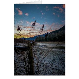 Fencepost Sunset Greeting Card