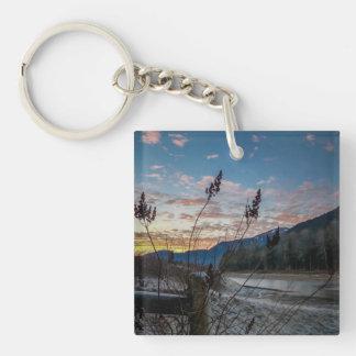 Fencepost Sunset Keychain