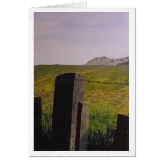 Fenceposts Greeting Card