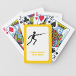 Fencer black silhouette with sword fencing custom bicycle playing cards