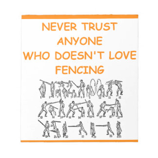 fencer fencing memo note pads
