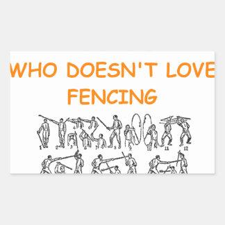 fencer fencing sticker