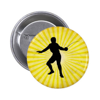 Fencer; Fencing; yellow Pin