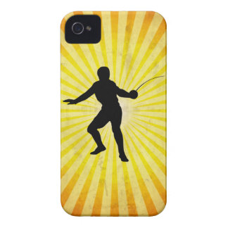 Fencer; Fencing; yellow iPhone 4 Case-Mate Cases
