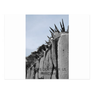 Fences dont give us freedom postcard