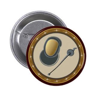 Fencing 2 Inch Round Button