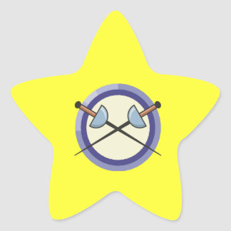 Fencing 5 star sticker