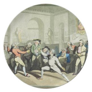 Fencing Academy de Sr. H Ángel, grabada por Charle Plato