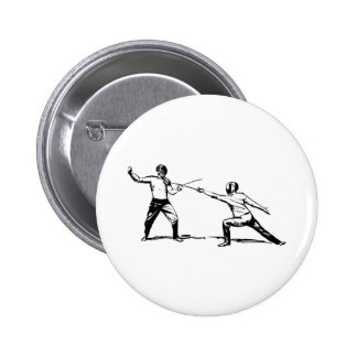 Fencing Pinback Button