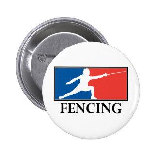 Fencing Pinback Button