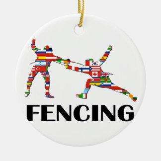 Fencing Ceramic Ornament