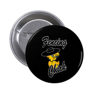 Fencing Chick #4 Pinback Buttons
