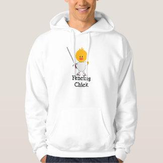 Fencing Chick Hooded Sweatshirt