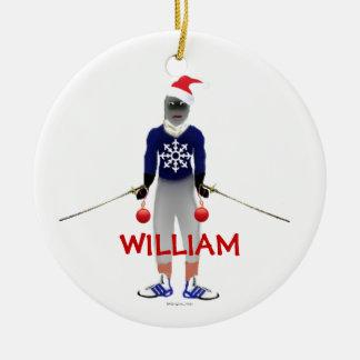 Fencing Christmas Custom Ceramic Ornament