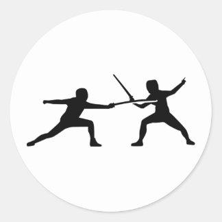 Fencing Classic Round Sticker