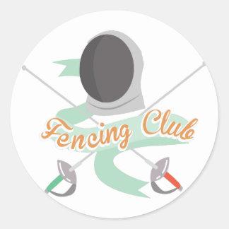 Fencing Club Classic Round Sticker