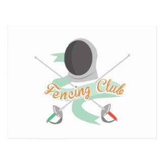 Fencing Club Postcard