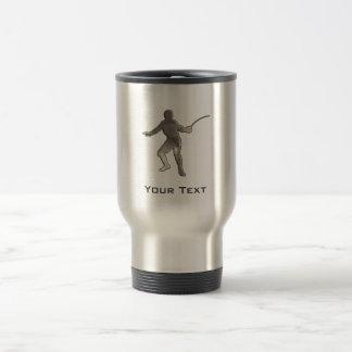 Fencing; Cool Black Travel Mug
