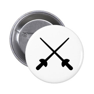 Fencing crossed epee buttons