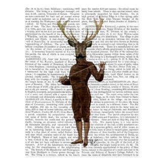 Fencing Deer Full Postcard