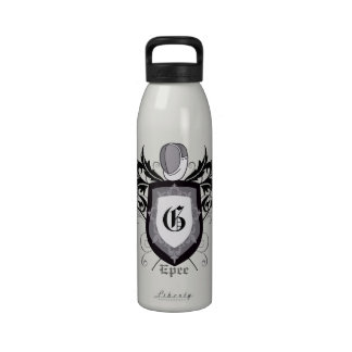 Fencing Epee Crest Silver Water Bottle