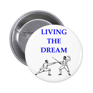 fencing fencer pinback buttons