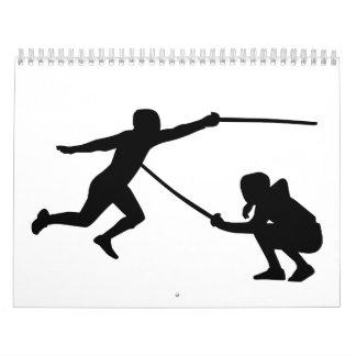 Fencing fencer calendars