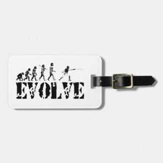 Fencing Fencer Epee Foil Sabre Evolution Sport Art Luggage Tag