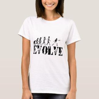 Fencing Fencer Epee Foil Sabre Evolution Sport Art T-Shirt