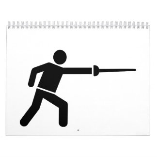 Fencing fencer icon calendar