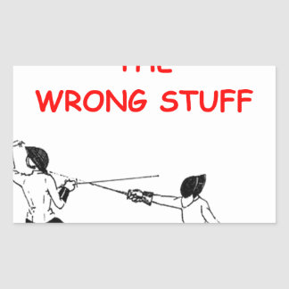 fencing fencer rectangle sticker