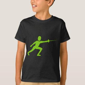 Fencing Figure - Martian Green T-Shirt