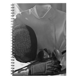 Fencing Gear Spiral Notebook