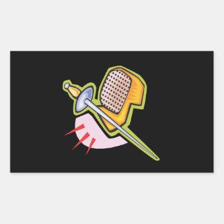 Fencing Gear Rectangular Sticker