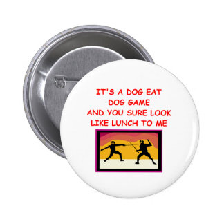 fencing gifts pinback button