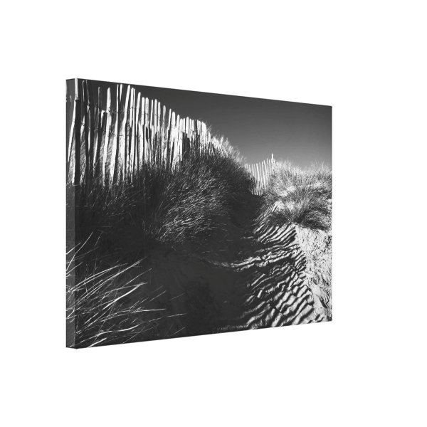 Fencing In The Dunes, Fine Art Photograph Canvas Print