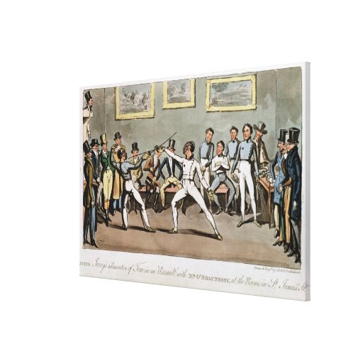 Fencing: Jerry's admiration of Tom in an `Assault' Gallery Wrap Canvas