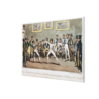 Fencing: Jerry's admiration of Tom in an `Assault' Canvas Print