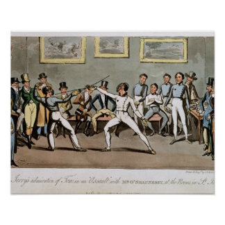 Fencing: Jerry's admiration of Tom in an `Assault' Print