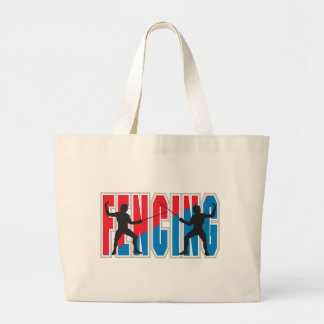 Fencing Large Tote Bag