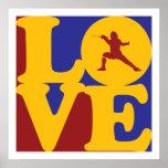 Fencing Love Print