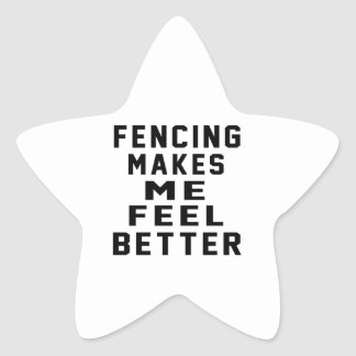Fencing Makes Me Feel Better Star Sticker