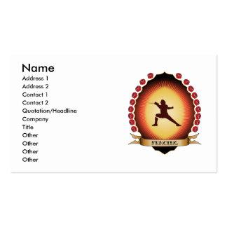 Fencing Mandorla Business Card
