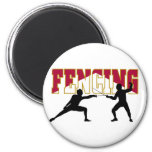 Fencing Match Fridge Magnets