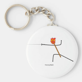 Fencing Match - Keychain