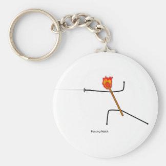 Fencing Match keychain