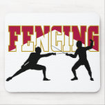 Fencing Match Mouse Pad